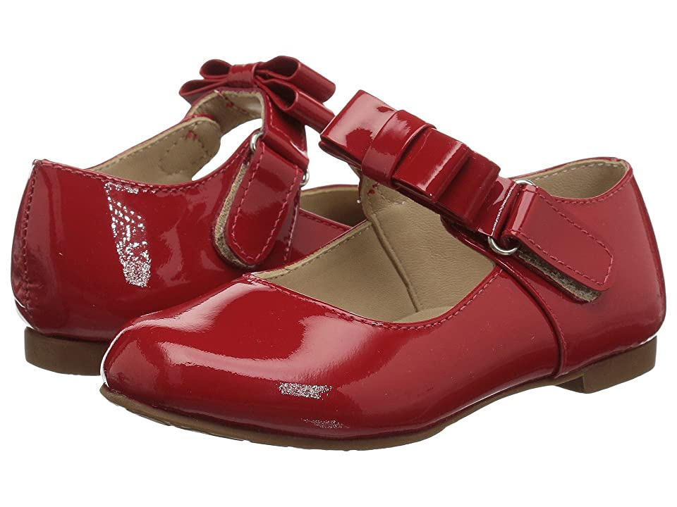 Elephantito Charlotte Mary Jane (Toddler/Little Kid) (Patent Red) Girls Shoes