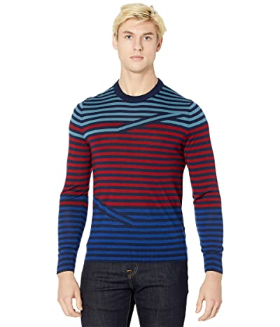 Paul Smith Crew Neck Striped Pullover Sweater (Red) Men