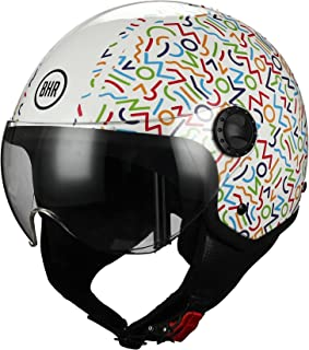 BHR 73634 Demi-Jet Linea One 801, Casco Multicolor, Tamaño M (57/58 cm)