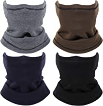 4 Pieces Neck Gaiter Ear Warmer Cold Weather Fleece Face Cover Scarf Winter Windproof Ear Neck Warmer for Outdoor Sport