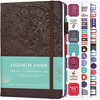 $24 » Legend Planner - Deluxe Weekly & Monthly Life Planner to Hit Your Goals & Live Happier. Organizer Notebook & Productivity ...