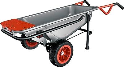 Workx WG050 Aerocart multifunctionele kruiwagen – 8-in-1 functie: steekwagen met massief rubberen banden, tuinkar, draaghu...
