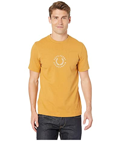 Fred Perry Circular Embroidered T-Shirt (Dark Gold) Men