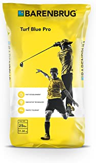 Barenbrug Turf Blue Pro Kentucky Bluegrass Grass Seed - Drought Tolerant Seed for Use on Golf Courses, Sports Fields, Parks, Lawns, and Yards (25 LB Bag)