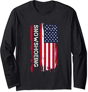Snowshoeing And Snowshoe Racing Long Sleeve T-Shirt