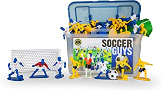 Kaskey Kids Soccer Guys – Blue/Yellow Inspires Kids Imaginations with Endless Hours of Creative, Open-Ended Play – Includes 2 Teams & Accessories – 25 Pieces in Every Set!