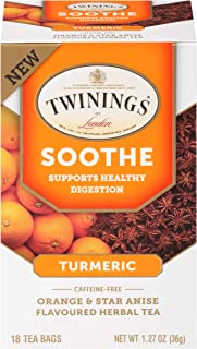 Sponsored Ad - Twinings of London Daily Wellness Tea, Soothe Digestion Supporting Turmeric, Orange & Star Anise, Flavored ...
