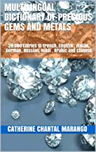Multilingual Dictionary Of Precious Gems And Metals: 29.000 Entries In French, English ,  Italian,  German,  Russian,  Hindi , Arabic  and Chinese