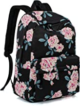 Leaper Fashion Water Resistant School Backpack for Girls 14Inch Laptop Black
