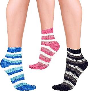 (Pack of 3) Women winter non slip fluffy super cute cozy comfy Socks
