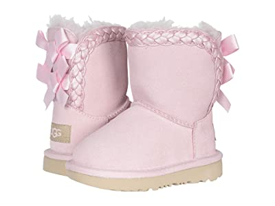 UGG Kids Classic Short II Braided (Toddler/Little Kid) (Seashell Pink) Girl