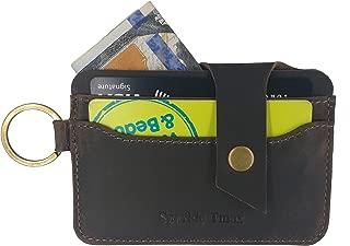 Front Pocket Minimalist Wallets for Men RFID Slim Genuine Leather Wallets Card Case