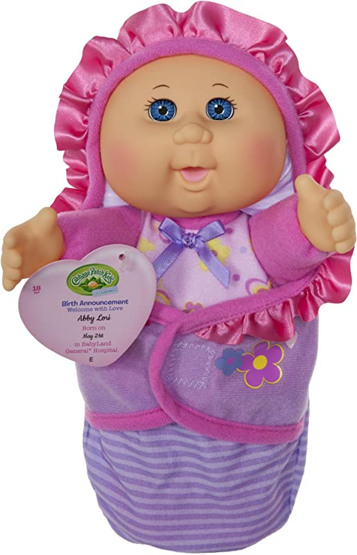 Cabbage Patch Kids Official Newborn Baby Doll Girl Comes With Swaddle Blanket And Unique Adoption Birth Announcement