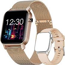 Smartwatch, Fitness Tracker Horloge met Vrij te Kiezen Achtergrondafbeelding, Waterdicht Smartwatch met Hartslagmeter, Sto...