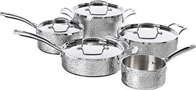 Cuisinart Hammered Collection Cookware Set, Medium, Stainless Steel