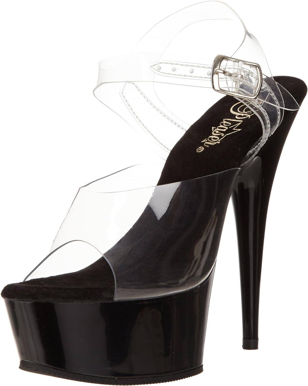Pleaser Women's Delight-608 Ankle-Strap Sandal