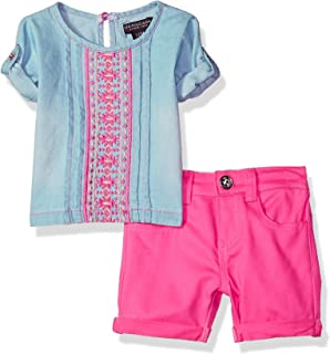 U.S. Polo Assn. Conjunto de Playera y pantalón Corto para bebé