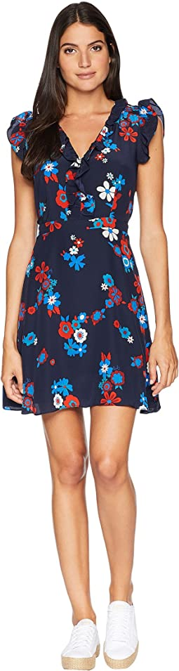 Silk Hayworth Floral Flirty Dress