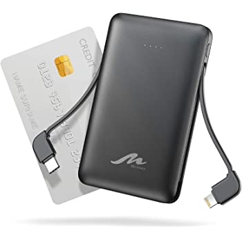 TG90 Portable Charger 6000mah External Battery Packs, Ultra Slim Power Bank with Built-in Cables Portable Phone Charger, USB C Portable Battery Charger Compatible with iPhone Android Cell Phones