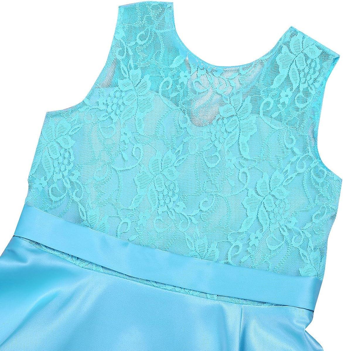 JEATHA Toddler High-Low Hem Flower Girl Dress V-Back Neckline Princess Wedding Bridesmaid Pageant Birthday Party Dresses