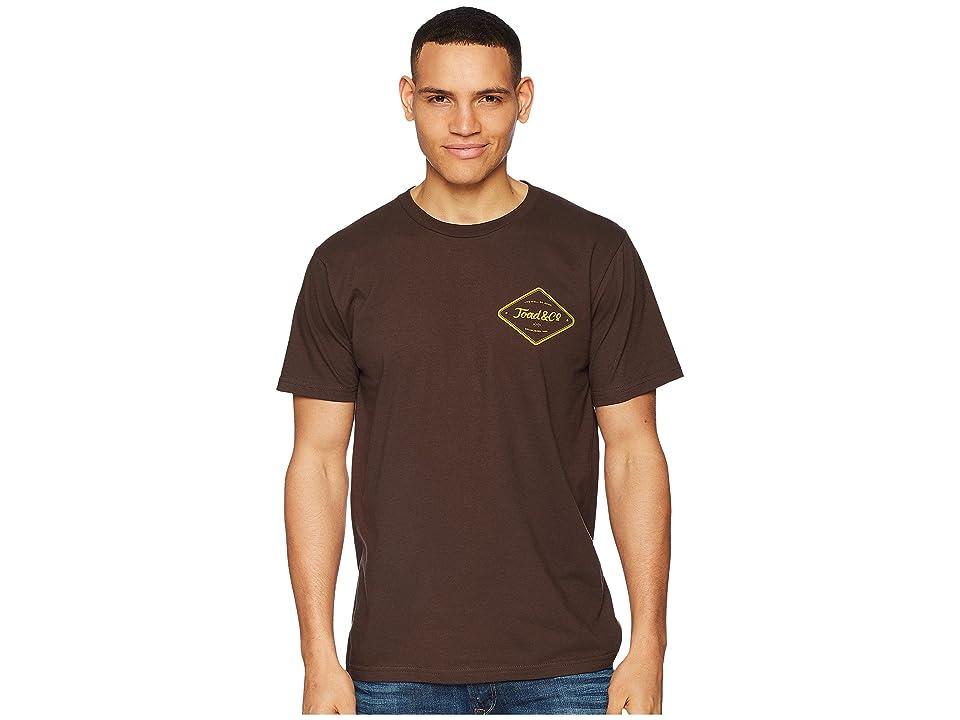 Toad&Co Pint Half Full Short Sleeve Tee (Bark) Men