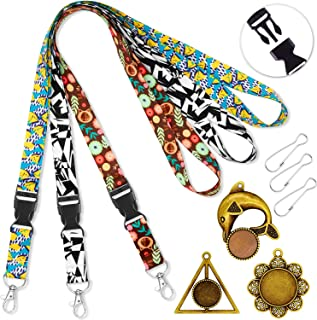 Lanyards for id Badges Holder Lanyard for Keys Women Kids Cruise lanyards for Ship Card with Pendant Ornaments Lanyard Width 0.79 inches (2cm) Quick Release Neck Office Lanyard id Card Holders 3 Pack