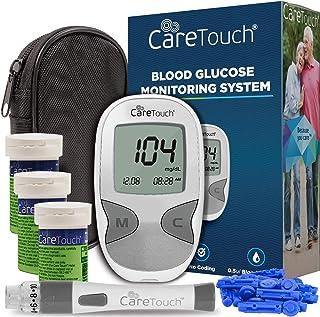 کیت قند خون دیابت، مراقبت از پوست - مراقبت از دستگاه اندازه گیری قند خون، 150 نوار آزمایش خون، 1 دستگاه لیزر، 30 لنز سنج، با کیف حمل