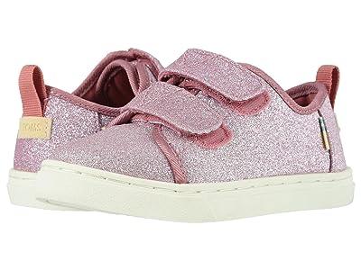 TOMS Kids Lenny Double Strap (Toddler/Little Kid) (Ballet Pink Glitter) Girl