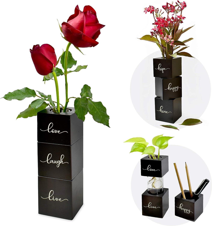 I'm Wood Vase Glass Plants Hydroponic Terrarium New Orleans Mall Miami Mall Flowers Pla