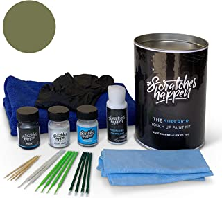 ScratchesHappen Exact-Match Touch Up Paint Kit Compatible with Chrysler/Dodge/Jeep F8 Green (PFQ/RFQ) - Complete
