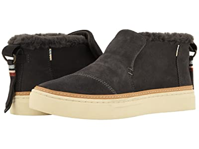 TOMS Paxton Water-Resistant Slip-Ons (Forged Iron Suede/Faux Fur) Women