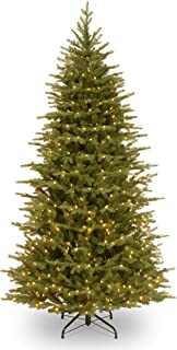National Tree Feel Real Nordic Spruce Slim Hinged Tree with Dual 500 Color LED Lights, 6 1/2', Green