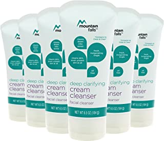 Mountain Falls Deep Clarifying Facial Cream Cleanser, 6.5 Ounce (Pack of 6)