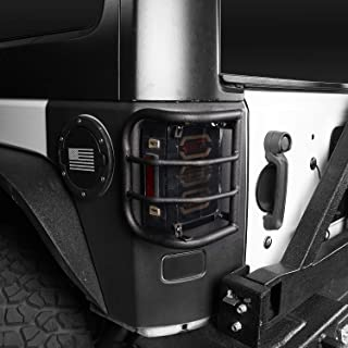 Jeep JK Light Guards Rear Tail Light (Taillight) Cover Cage for 2007-2017 Jeep Wrangler JK & Unlimited - Pair (Rugged Off Road)