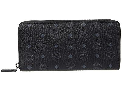 MCM Visetos Original Zipped Wallet Large (Black) Bags