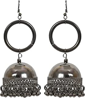 Frolics India Plated Style Oxidised Dangler Earrings For Girls and Women