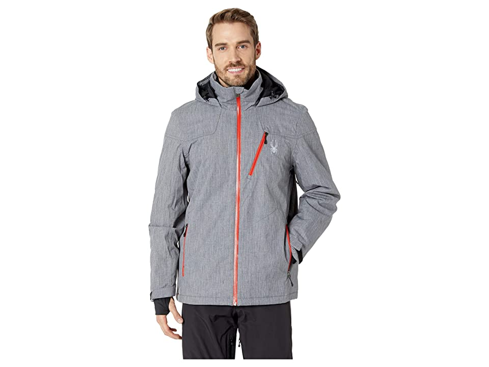 Spyder Traveler Jacket (Black/Black/Volcano) Men