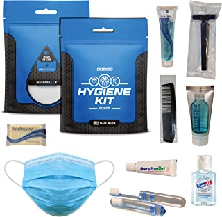 Go2Kits Hygiene Toiletry PPE Kits for Travel, Business, Charity Made in USA (1 Pack)