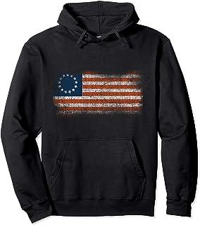 Betsy Ross American Flag Bennington Tshirt Patriotic 1776 Pullover Hoodie