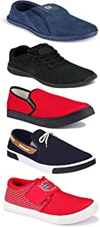 WORLD WEAR FOOTWEAR Sports Running Shoes/Casual/Sneakers/Loafers Shoes for Men Multicolor (Combo-(5)-1219-1221-1140-417-1085)