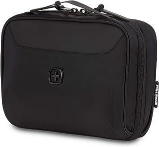 حقيبة أدوات الزينة ومنظم الحبل من سويسجير | حقيبة سلكية للسفر التقنية | مقاومة للماء | إغلاق بسحاب