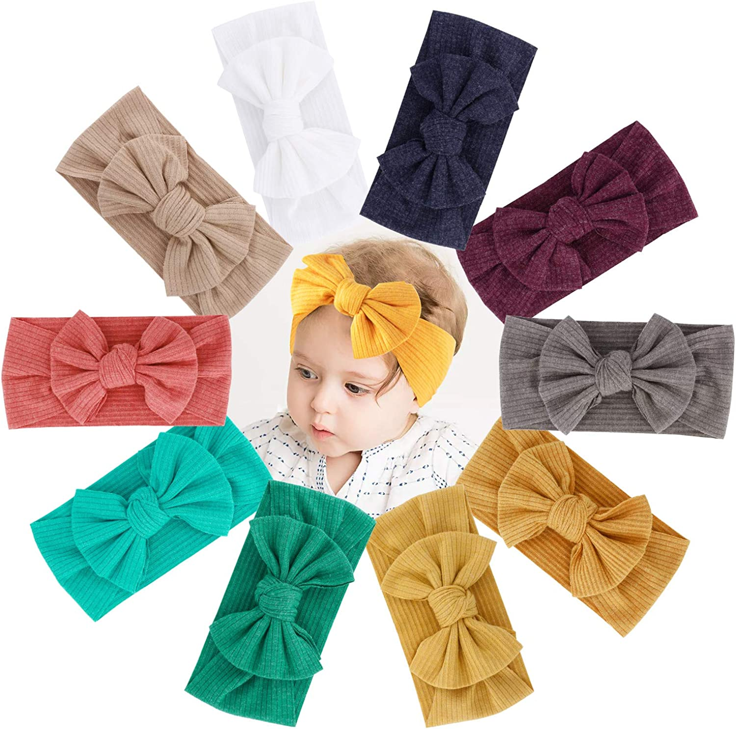 Baby Headbands with Bows Girls Year-end annual account Special Campaign Grosgrain Bow Ela Hairbands Nylon