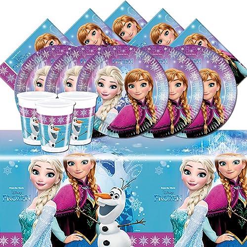 Disney FROZEN 2016 Anna Elsa Child/'s Birthday Party Tableware Pack For 8