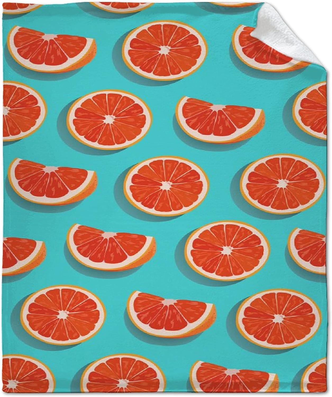 Aopit Labs Austin Mall Seamless Max 70% OFF Pattern Slice Orange Fruits Throw T Blanket