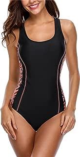 Women's Sport One Piece Swimsuit Racerback Athletic Pro Swimwear