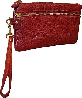 Women's Genuine Leather Wristlet Clutch Pouch