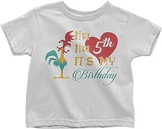 LeetGroupAU HEI HEI It's My 3rd Birthday Toddler T-Shirt White