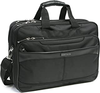 Perry Ellis Laptop/Tablet Business Briefcase, Black