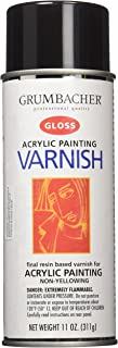 Grumbacher Hyplar Gloss Varnish Spray for Acrylic Paintings, 11 Oz. Can, #547