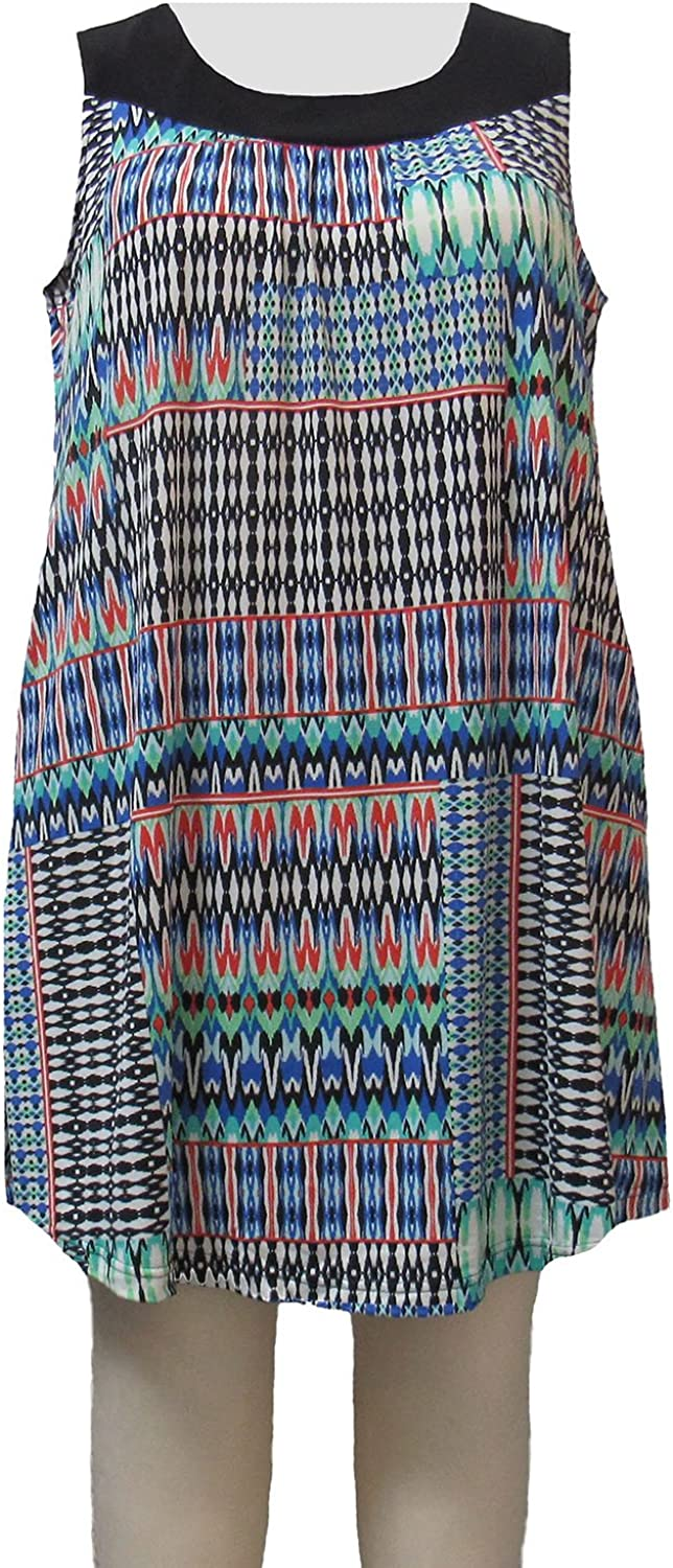 A Personal Touch Women's Plus Size Azure Tribal Cover Up Dress